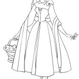 Sleeping Beauty, Princess Aurora Wander Around In Sleeping Beauty Coloring Page: Princess Aurora Wander Around in Sleeping Beauty Coloring Page