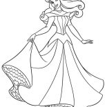 Sleeping Beauty, Princess Aurora In Her Wedding Dress In Sleeping Beauty Coloring Page: Princess Aurora in Her Wedding Dress in Sleeping Beauty Coloring Page