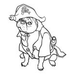 Pug, Pug The Dog Pirate Coloring Page: Pug the Dog Pirate Coloring Page