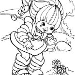 Rainbow Brite, Rainbow Brite Founf A Beautiful Flower Coloring Page: Rainbow Brite Founf a Beautiful Flower Coloring Page