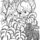 Rainbow Brite, Rainbow Brite Gardening Coloring Page: Rainbow Brite Gardening Coloring Page