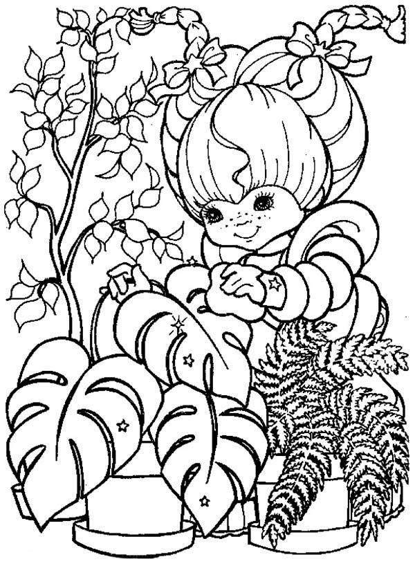 Rainbow Brite, : Rainbow Brite Gardening Coloring Page