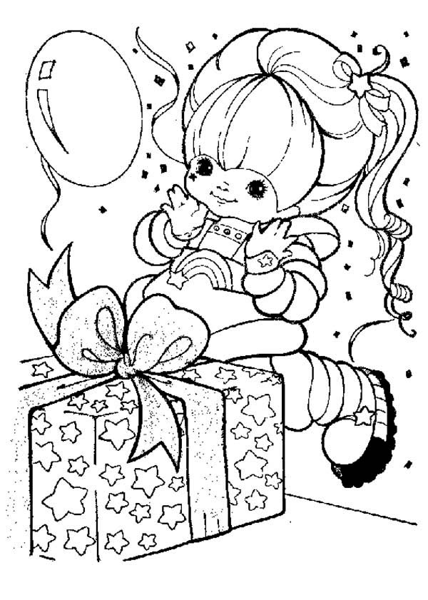 Rainbow Brite, : Rainbow Brite Got a Present Coloring Page