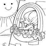 Rainbow Brite, Rainbow Brite Love The Sun Coloring Page: Rainbow Brite Love the Sun Coloring Page