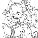 Rainbow Brite, Rainbow Brite Love To Read With Romeo Coloring Page: Rainbow Brite Love to Read with Romeo Coloring Page