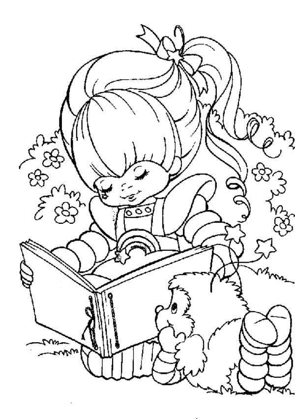Rainbow Brite, : Rainbow Brite Love to Read with Romeo Coloring Page