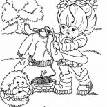 Rainbow Brite, Rainbow Brite Make A Knit For Twink Coloring Page: Rainbow Brite Make a Knit for Twink Coloring Page