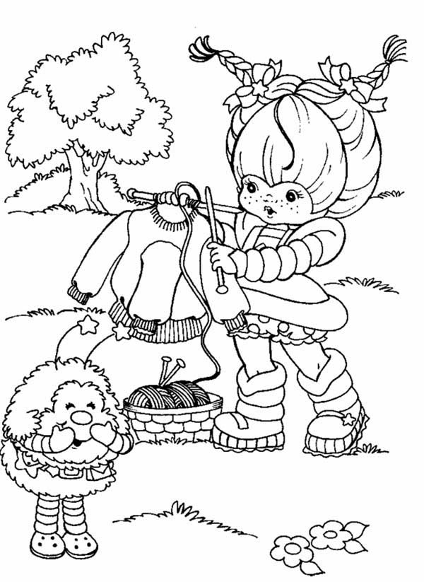 Rainbow Brite, : Rainbow Brite Make a Knit for Twink Coloring Page