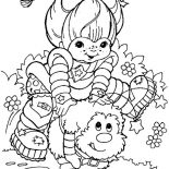Rainbow Brite, Rainbow Brite Playing With Twink Coloring Page: Rainbow Brite Playing with Twink Coloring Page