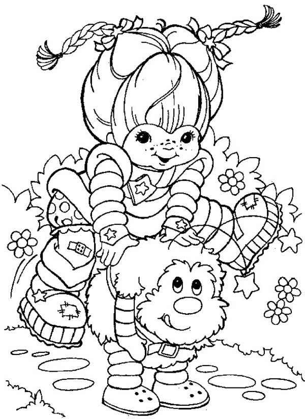 Rainbow Brite Playing With Twink Coloring Page Color Luna