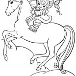 Rainbow Brite, Rainbow Brite And Her Hosre Starlite Coloring Page: Rainbow Brite and Her Hosre Starlite Coloring Page