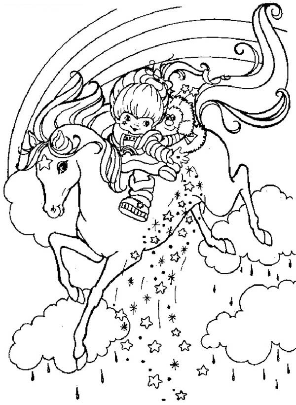 Rainbow Brite, : Rainbow Brite and Twink Spread Star Sprinkles Coloring Page