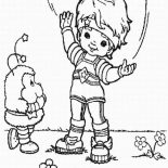 Rainbow Brite, Red Butler Tell Twink A Story In Rainbow Brite Coloring Page: Red Butler Tell Twink a Story in Rainbow Brite Coloring Page