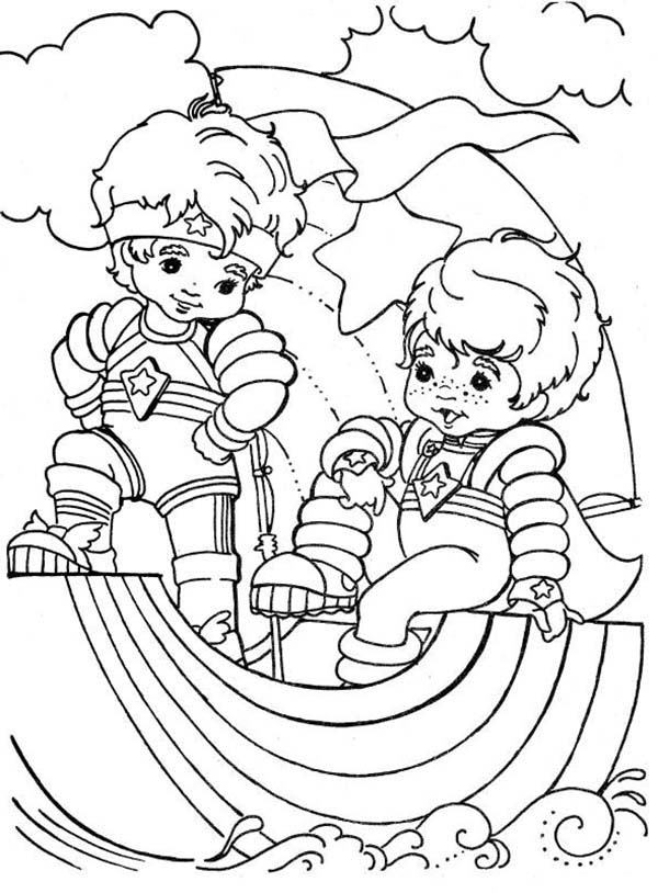 Rainbow Brite, : Red Butler and Buddy Blue in Rainbow Brite Coloring Page