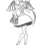 Monster High, Rochelle Goyle From Monster High Coloring Page: Rochelle Goyle from Monster High Coloring Page