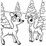 Rudolph, Rudolph And Clarice Talking Coloring Page: Rudolph and Clarice Talking Coloring Page