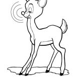 Rudolph, Rudolph The Red Nosed Reindeer Closed His Eyes Coloring Page: Rudolph the Red Nosed Reindeer Closed His Eyes Coloring Page