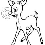 Rudolph, Rudolph The Red Nosed Reindeer Coloring Page: Rudolph the Red Nosed Reindeer Coloring Page