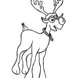 Rudolph, Rudolph The Red Nosed Reindeer Coloring Page For Kids: Rudolph the Red Nosed Reindeer Coloring Page for Kids