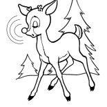 Rudolph, Rudolph The Red Nosed Reindeer Feel Sleepy Coloring Page: Rudolph the Red Nosed Reindeer Feel Sleepy Coloring Page