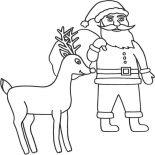 Rudolph, Rudolph The Santas 9th Reindeer Coloring Page: Rudolph the Santas 9th Reindeer Coloring Page