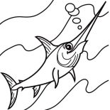 Swordfish, S Is For Swordfish Coloring Page: S is for Swordfish Coloring Page