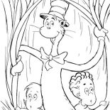 The Cat in the Hat, Sally And Her Brother With The Cat In The Hat Coloring Page: Sally and Her Brother with the Cat in the Hat Coloring Page