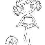 Lalaloopsy, Sand E Starfish From Lalaloopsy Coloring Page: Sand E Starfish from Lalaloopsy Coloring Page
