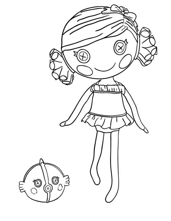 Lalaloopsy, : Sand E Starfish from Lalaloopsy Coloring Page