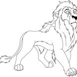 Lion, Scar From The Lion King Coloring Page: Scar from The Lion King Coloring Page