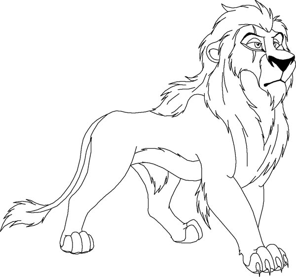 Lion, : Scar from The Lion King Coloring Page