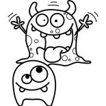 Monsters, Scary Monster Coloring Page: Scary Monster Coloring Page