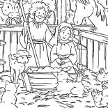 Nativity, Scene Of Nativity Coloring Page: Scene of Nativity Coloring Page