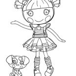 Lalaloopsy, Scraps Stitched N Sewn From Lalaloopsy Coloring Page: Scraps Stitched N Sewn from Lalaloopsy Coloring Page