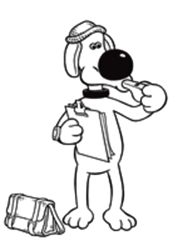 Shaun the Sheep, : Shaun the Sheep Best Friend Bitzer Coloring Page
