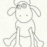 Shaun the Sheep, Shaun The Sheep Coloring Page For Kids: Shaun the Sheep Coloring Page for Kids