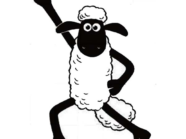 shaun the sheep winning pose coloring page color