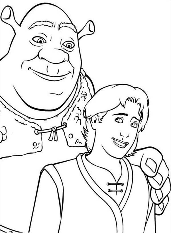 Shrek, : Shrek Coloring Page
