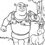 Shrek, Shrek Drink From Bottle Coloring Page: Shrek Drink from Bottle Coloring Page