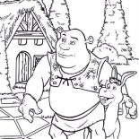 Shrek, Shrek And Donkey Coloring Page: Shrek and Donkey Coloring Page