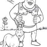 Shrek, Shrek And Donkey Are Amazed Coloring Page: Shrek and Donkey are Amazed Coloring Page