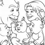 Shrek, Shrek And Family Coloring Page: Shrek and Family Coloring Page