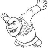 Shrek, Shrek Is Jumping Coloring Page: Shrek is Jumping Coloring Page