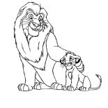 Lion, Simba And His Father Mufasa In The Lion King Movie Coloring Page: Simba and His Father Mufasa in the Lion King Movie Coloring Page