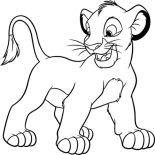 Lion, Simba From The Lion King Coloring Page: Simba from the Lion King Coloring Page