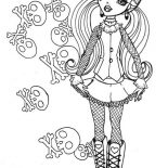 Monster High, Skull Of Draculaura In Monster High Coloring Page: Skull of Draculaura in Monster High Coloring Page