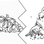 Parable of the Sower, Some Seed Was Eaten By Birds In Parable Of The Sower Coloring Page: Some Seed was Eaten by Birds in Parable of the Sower Coloring Page