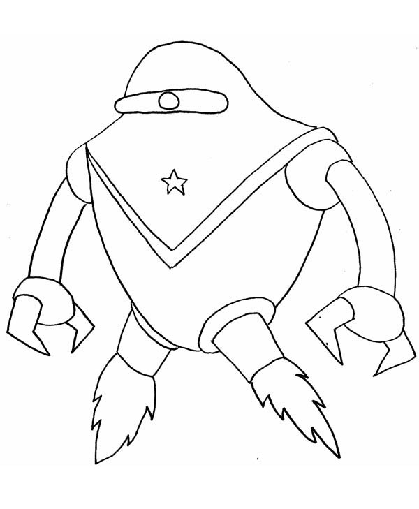 Monsters vs Aliens, : Space Alien from Monster vs Aliens Coloring Page