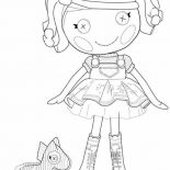 Lalaloopsy, Spot Splatter Splash From Lalaloopsy Coloring Page: Spot Splatter Splash from Lalaloopsy Coloring Page