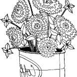 Spring Flower, Spring Flower Bloom In Big Can Coloring Page: Spring Flower Bloom in Big Can Coloring Page